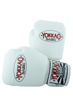 Боксерские перчатки Yokkao Syntex белые