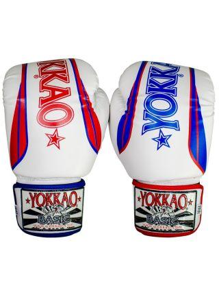 Боксерские перчатки Yokkao Syntex X-Combat белые