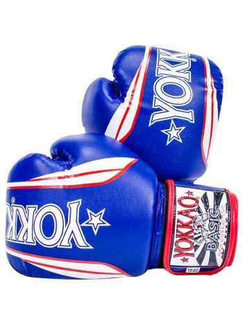 Боксерские перчатки Yokkao Syntex X-Combat бело-синие