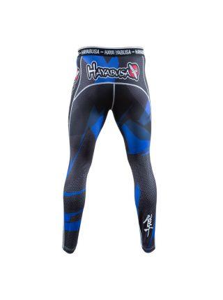Компрессионные штаны Hayabusa Metaru 47 Silver синие