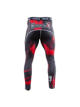 Компрессионные штаны Hayabusa Metaru 47 Silver красные
