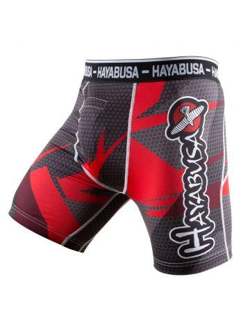 Компрессионные шорты Hayabusa Metaru 47 Silver красные