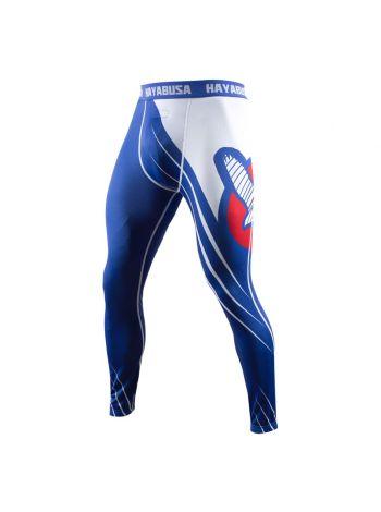 Компрессионные штаны Hayabusa Recast сине-белые