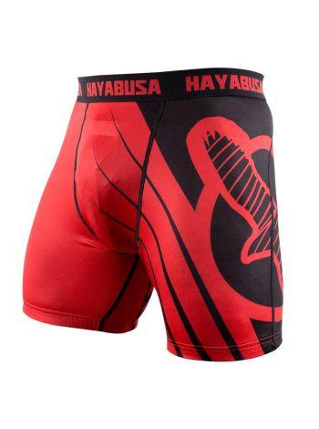 Компрессионные шорты Hayabusa Recast красно-черные