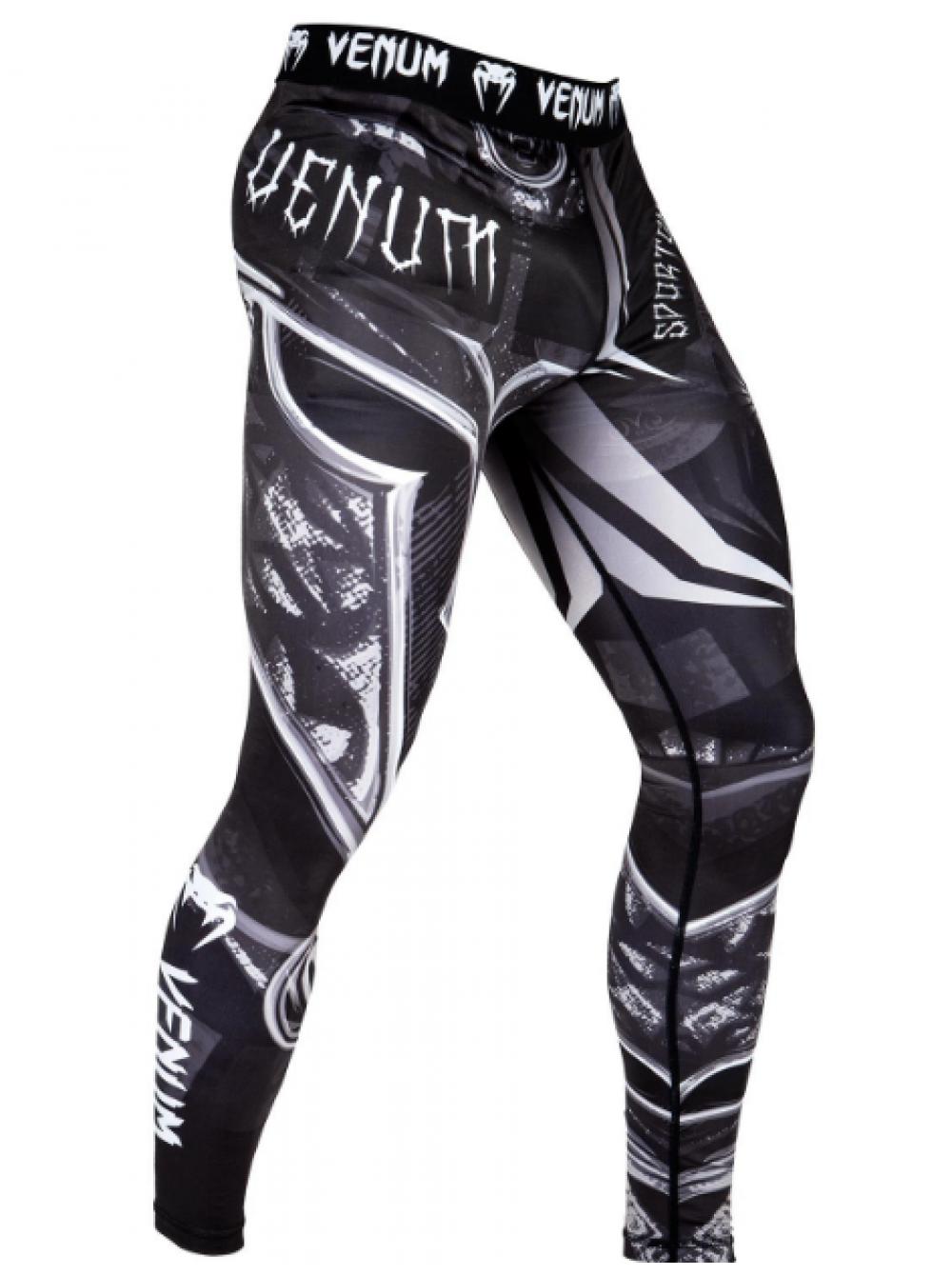 6ab5e198f09e Купить компрессионные штаны ММА «VENUM GLADIATOR 3.0» черно-белые