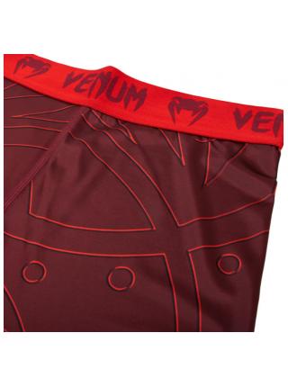 Компрессионные штаны ММА VENUM NIGHTCRAWLER красные