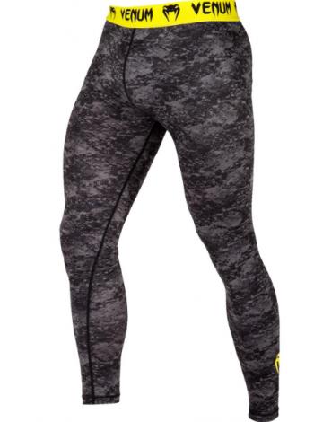 Компрессионные штаны ММА VENUM TRAMO черно-желтые