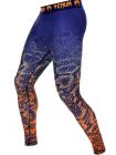 Компрессионные штаны ММА VENUM TROPICAL сине-оранжевые