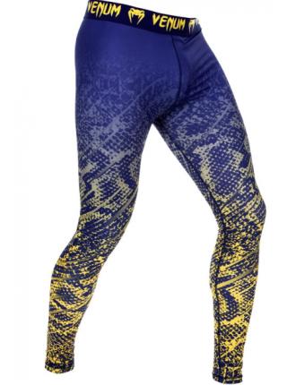 Компрессионные штаны ММА VENUM TROPICAL сине-желтые