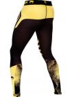 Компрессионные штаны ММА VENUM TECHNICAL черно-желтые