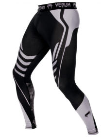 Компрессионные штаны ММА VENUM TECHNICAL черно-серые
