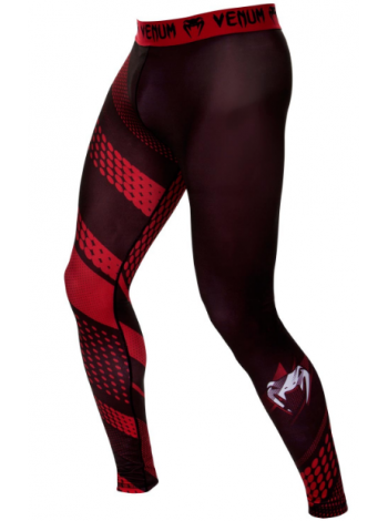 Компрессионные штаны ММА VENUM RAPID черно-красные