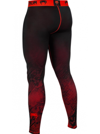 Компрессионные штаны ММА VENUM FUSION черно-красные