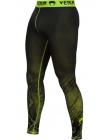 Компрессионные штаны ММА VENUM FUSION черно-желтые