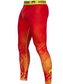 Компрессионные штаны ММА VENUM FUSION красные