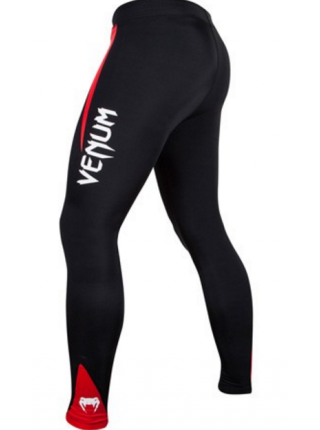 Компрессионные штаны ММА VENUM CHALLENGER черно-красные