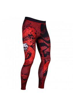 Компрессионные штаны Venum Crimson Viper красные