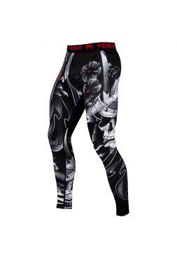 Компрессионные штаны VENUM SAMURAI SKULL SPATS черные