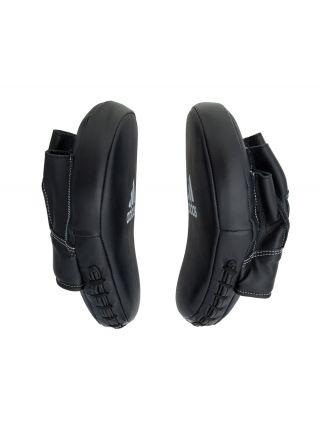 """Боксерские лапы Adidas Focus Mitt Leather 10"""" черные"""