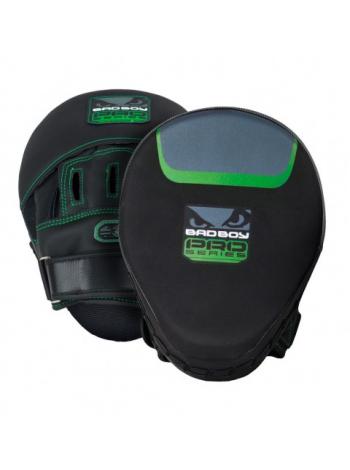 Боксерские лапы BAD BOY PRO SERIES 3.0 черно-зеленые