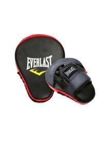 Лапы для бокса Everlast черно-красные изогнутые