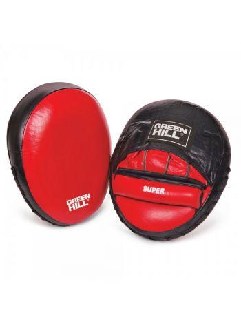 Лапы для бокса Green Hill FOCUS MITT SUPER красные