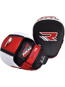 Боксерские лапы RDX MMA Boxing Cowhide Leather красные