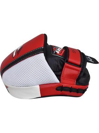 Лапы для бокса RDX MMA Boxing Cowhide Leather красные