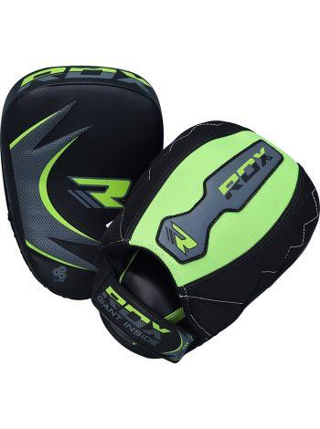 Лапы для бокса RDX MMA Curved Training черно-зеленые