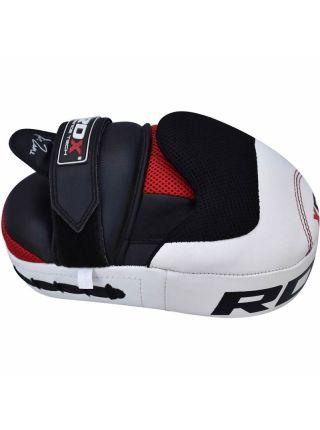 Лапы для бокса RDX Gel Leather белые