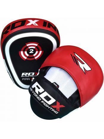 Лапы для бокса RDX Leather-X красные