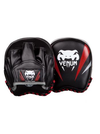 Боксерские лапы VENUM ELITE MINI черно-красные