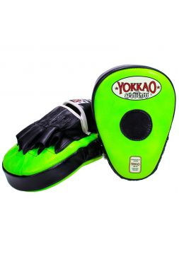 Лапы для бокса Yokkao черно-зеленые