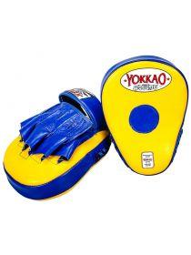 Лапы для бокса Yokkao сине-желтые