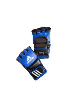 Перчатки ММА Adidas Ultimate Fight сине-черные