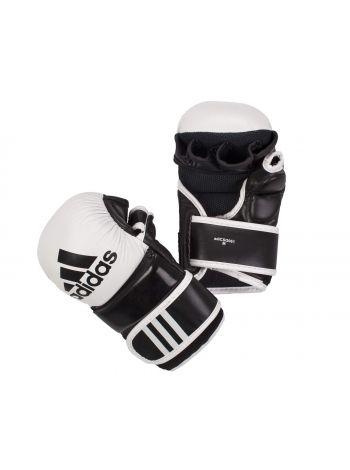 Перчатки ММА Adidas Hybrid Training Leather черно-белые
