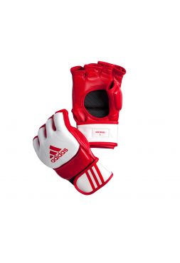 Перчатки ММА Adidas Competition Training красно-белые