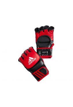 Перчатки ММА Adidas Ultimate Fight красно-черные