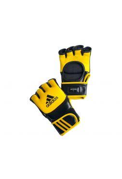Перчатки ММА Adidas Ultimate Fight желто-черные