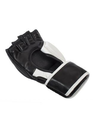 Перчатки ММА Clinch Combat черно-белые
