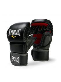 Перчатки ММА тренировочные Everlast STRIKIN черно-красные