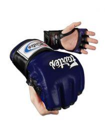 Перчатки MMA FAIRTEX FGV13 синие на липучке