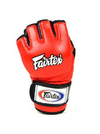 Перчатки MMA FAIRTEX FGV13 красные на липучке