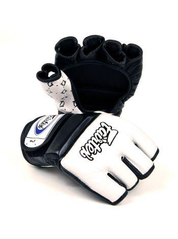 Перчатки MMA FAIRTEX FGV17 бело-черные