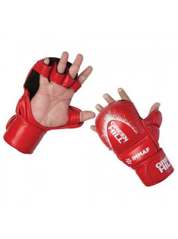 Перчатки Green Hill MMA GLOVES IMMAF APPROVED красные