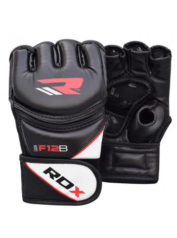 Перчатки ММА RDX LEATHER-X черные