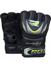 Перчатки детские RDX Kids MMA Gloves Grappling Training черно-зеленые