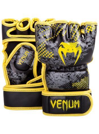 Перчатки MMA Venum Tramo черно-желтые