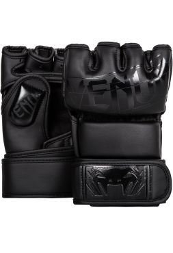 Перчатки MMA Venum Undisputed 2.0 Semi Leather черные
