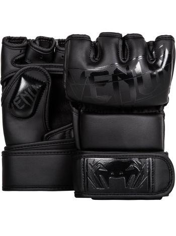 Перчатки MMA Venum Undisputed 2.0 Semi Leather черные